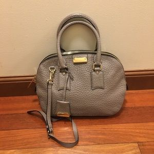 Authentic Gray BURBERRY Orchard Bag